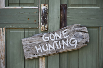 Gone hunting. Wall mural