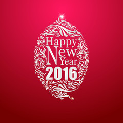 New year on red glow background vector design