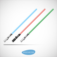 Light Saber - Futuristic Energy Weapon. Isolated Vector Illustration