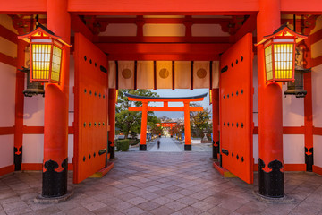 Main gate of Fushimi Inari-taisha shrine in Kyoto