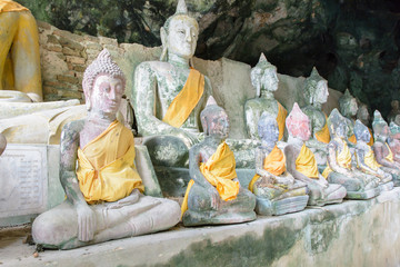 Wat Tham Kuha(Khooha) is a temple-cave filled with many Buddha I