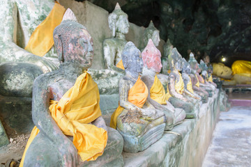 Wat Tham Kuha(Khooha) is a temple-cave filled with many Buddha I