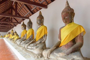 Sacred Buddha images in Surat thani, Thailand