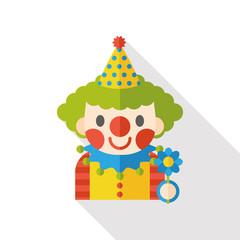 circus clown flat icon