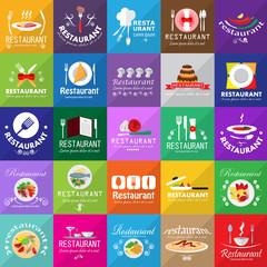 Restaurant Icons Set: Vector Illustration