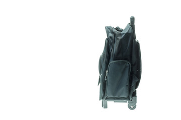 New black student bag isolated on white