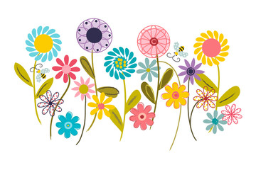 Wildflower Garden - Wall Art, Nursery or Children's Room Art
