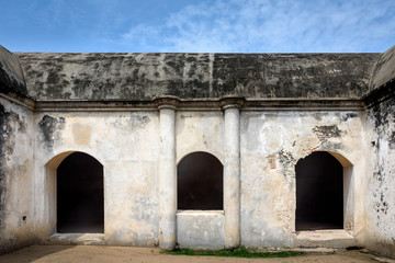 Old warehouse in Dutch fort in India