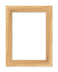 wood picture frame Isolated on white background