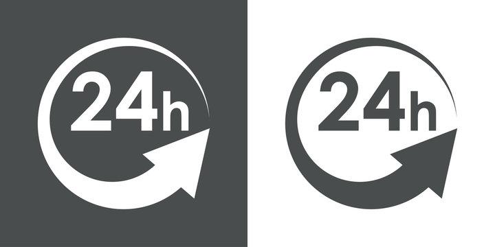 Icono plano 24h #1