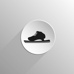 running ice skate black icon