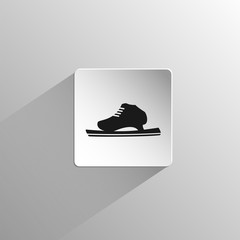 running ice skate black icon