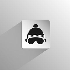 glasses and ski cap black icon