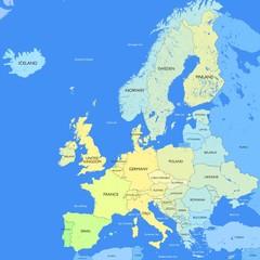 Detailed Europe map