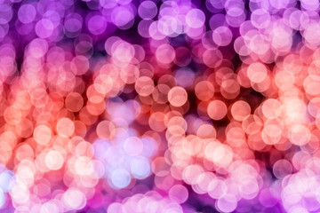 blur red and purple circle light