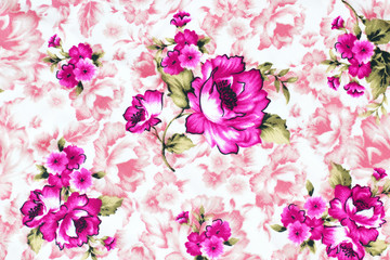 Rose fabric , Rose fabric background, Fragment of colorful retro