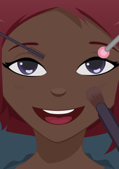 Close-up face