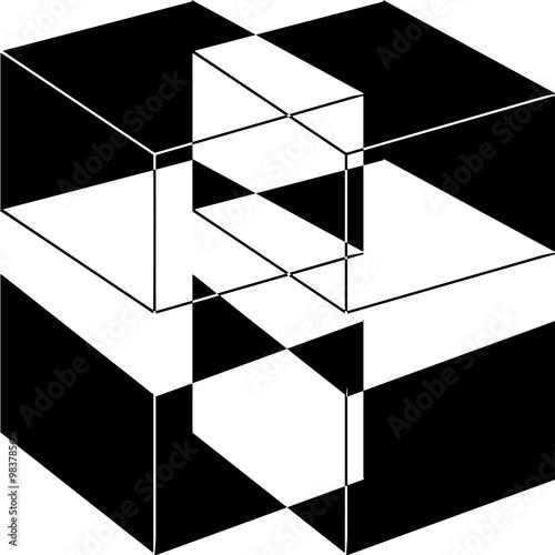 figure g om trique abstraite en noir et blanc fichier vectoriel libre de droits sur la banque. Black Bedroom Furniture Sets. Home Design Ideas