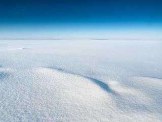 Fluffy snow and blue sky