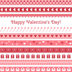 Happy Valentine's Day. Greeting card