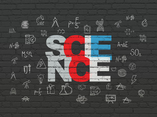 Science concept: Science on wall background