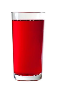 Glass of cranberry juice
