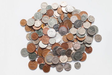 A Pile of British Coins