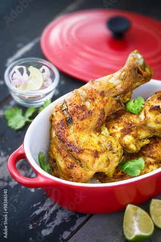 poulet tandoori plat indien photo libre de droits sur la banque d 39 images image. Black Bedroom Furniture Sets. Home Design Ideas