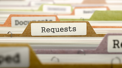 File Folder Labeled as Requests.