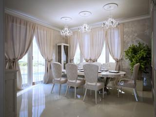 Dining room in  avant garde design