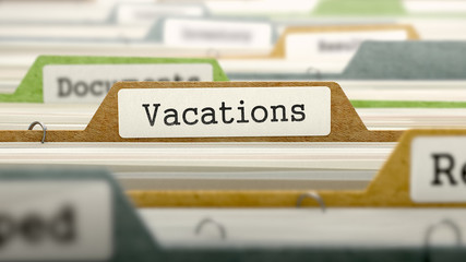 Vacations on Business Folder in Catalog.