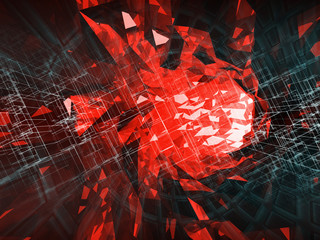 Abstract digital background, high-tech concept