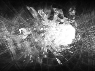 Abstract monochrome digital background 3d