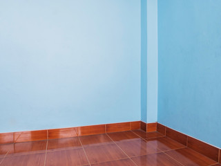 Light blue wall and floor tiles