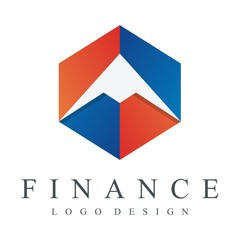 Finance, Accounting, Bank, Dove in Cube Design Logo Vector
