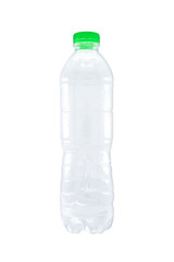 Plastic bottle isolated on white background