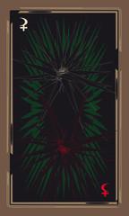 Tarot cards - back design, Lilith, Selena