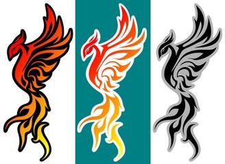 fantasy bird phoenix art vector illustration