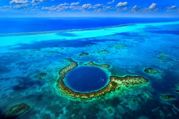 Great Blue Hole, Belize. Wall mural