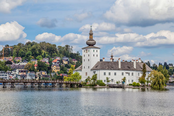 Schloss Ort on Traunsee lake in Austria