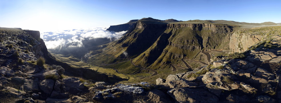 Sunrise over Sani Pass, Lesotho