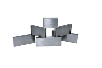 Several metal bars isolated