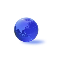 Globe of the World.Asia/with clipping path