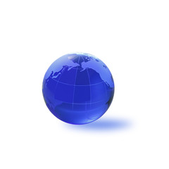 Globe of the World.Pacific Ocean/with clipping path
