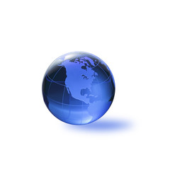Globe of the World. America/with clipping path
