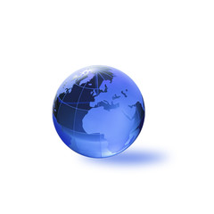 Globe of the World.Europe, Africa/with clipping path