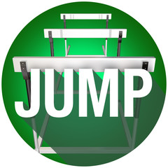 Jump Hurdles Avoid Overcome Risk Danger Challenge Circle