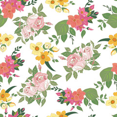 Decorative background with floral design
