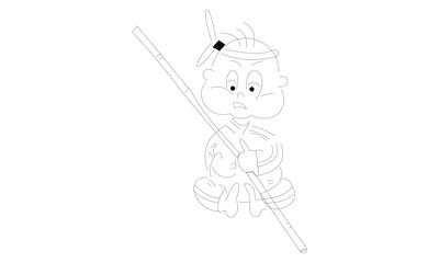 cartoon kid design
