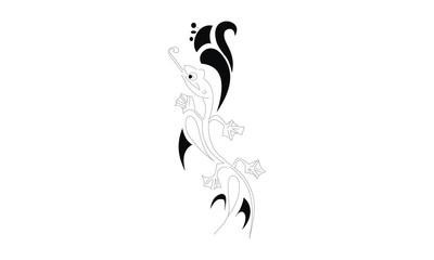 lizard hand draw design